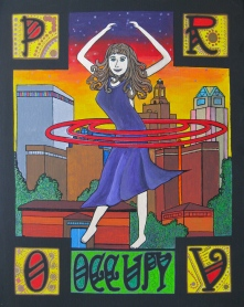 Occupy Providence Acrylic Painting