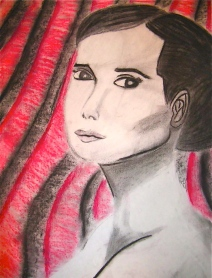 Portrait of a Woman Graphite and Pastels